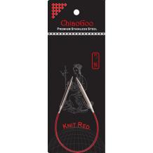 ChiaoGoo спицы металлические Knit red 23 см круговые