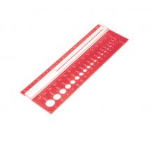 KnitPro Линейка для определения размера спиц и плотности вязания