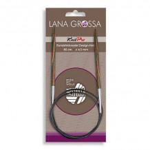 Lana Grossa Круговые спицы, дерево, разноцветное, 80 см