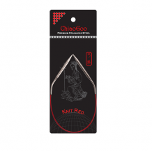 ChiaoGoo спицы металлические Knit red 30 см круговые