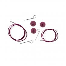 KnitPro Purple Silver Cables Тросик для съемных спиц