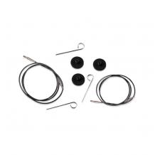 KnitPro Black Silver Cables  Тросик для съемных спиц