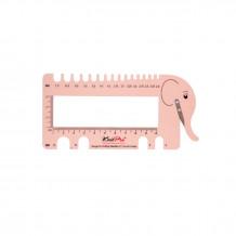 KnitPro Линейка для определения размера спиц с резаком для нити Слон